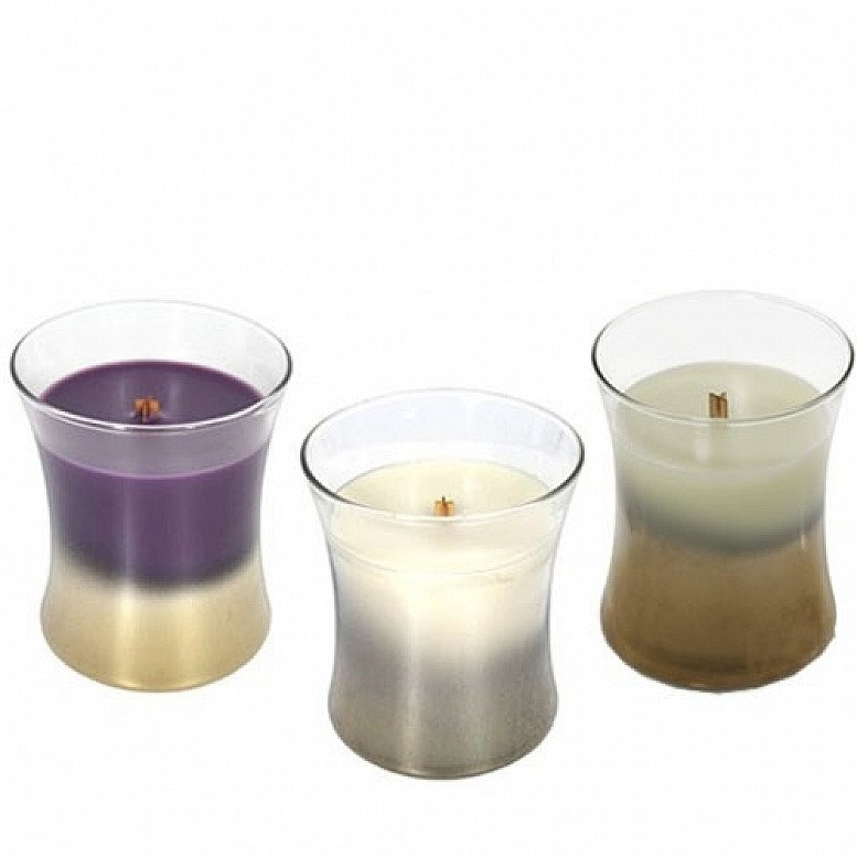 SAVE 50% - WOODWICK FLORAL NIGHT 3 MEDIUM JAR COLLECTION!