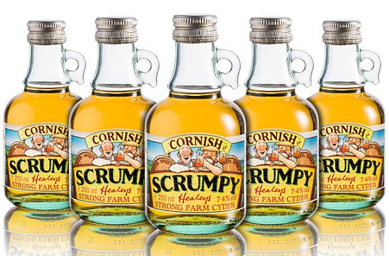 CORNISH SCRUMPY CYDER MEDIUM SWEET 250ML x 12 - £26.40!