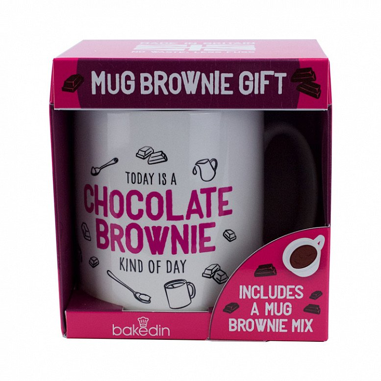Perfect for Valentines Day - Chocolate Brownie Gift Mug and Cake Mix just £9.95!