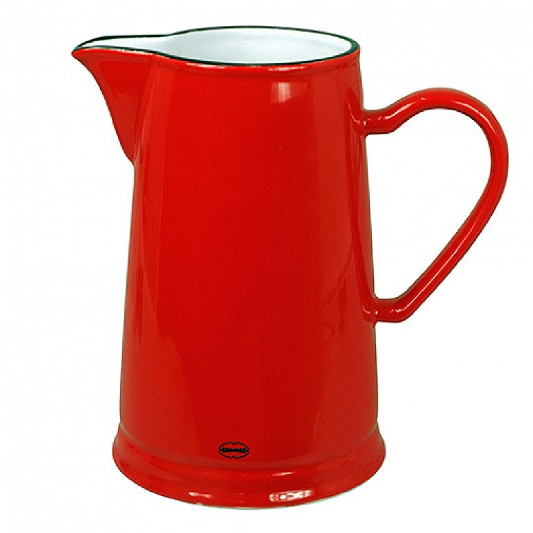 SALE - Retro Red Ceramic Large Jug 1.6L!