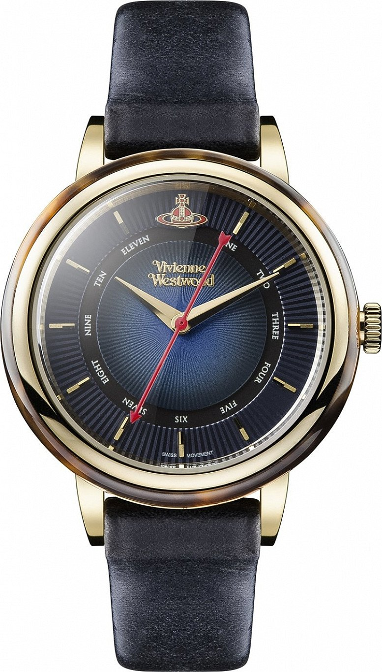 Up to 60% Off on Vivienne Westwood Jewellery - Navy & Gold Portobello Watch!