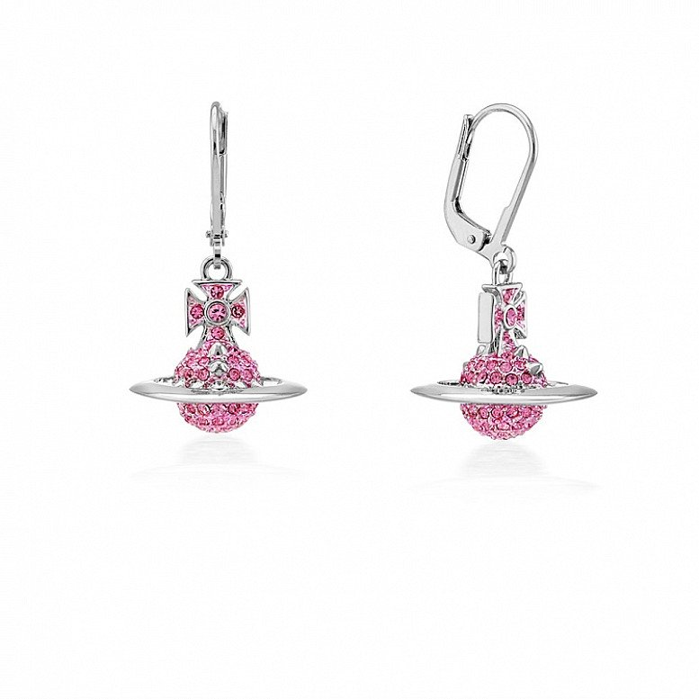 Up to 60% Off on Vivienne Westwood Jewellery - Silver & Pink Earrings!
