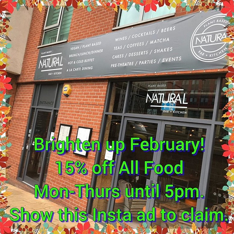 Brighten up February - 15% OFF all Food!