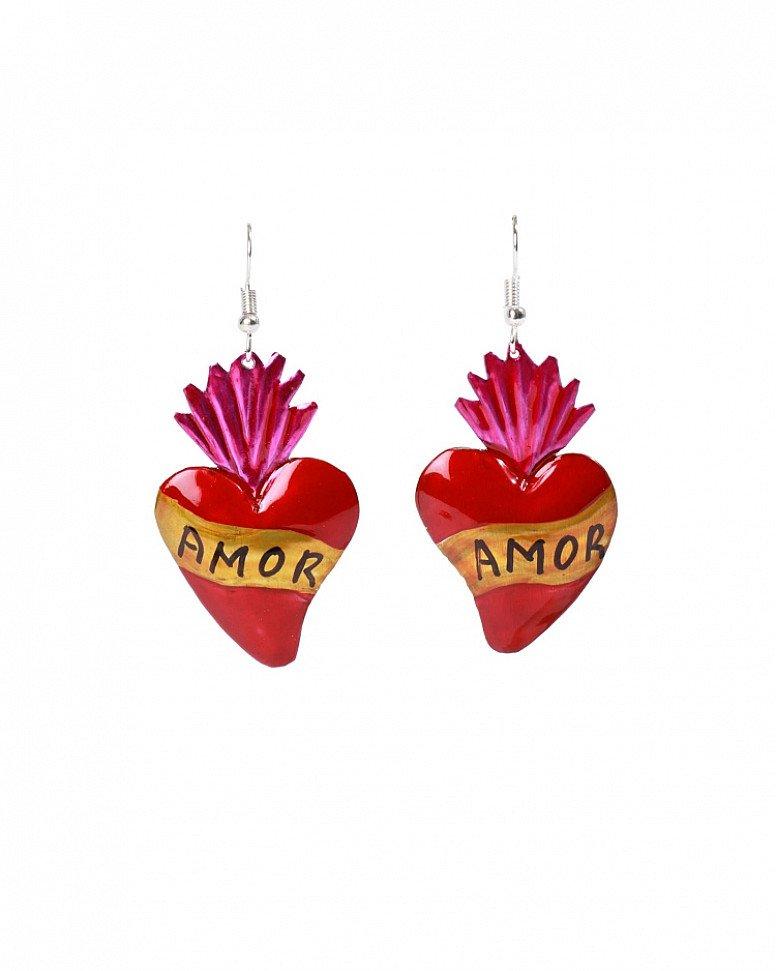 Valentine's Day Gift Idea - Amor Heart Earrings