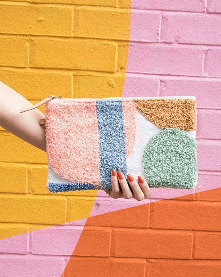 PICK OF THE WEEK - Delice Embroidered Pouch, Pastel!