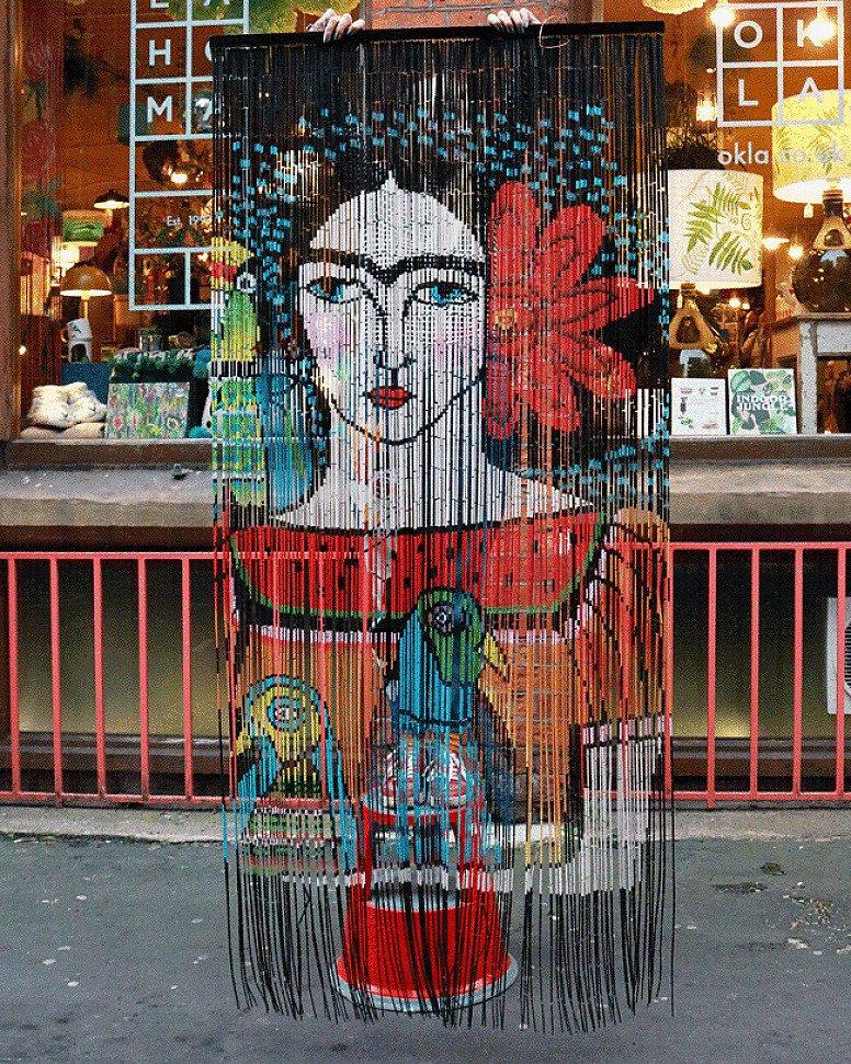 NEW PRODUCTS - Frida Illustration Bamboo Curtain £89.00!