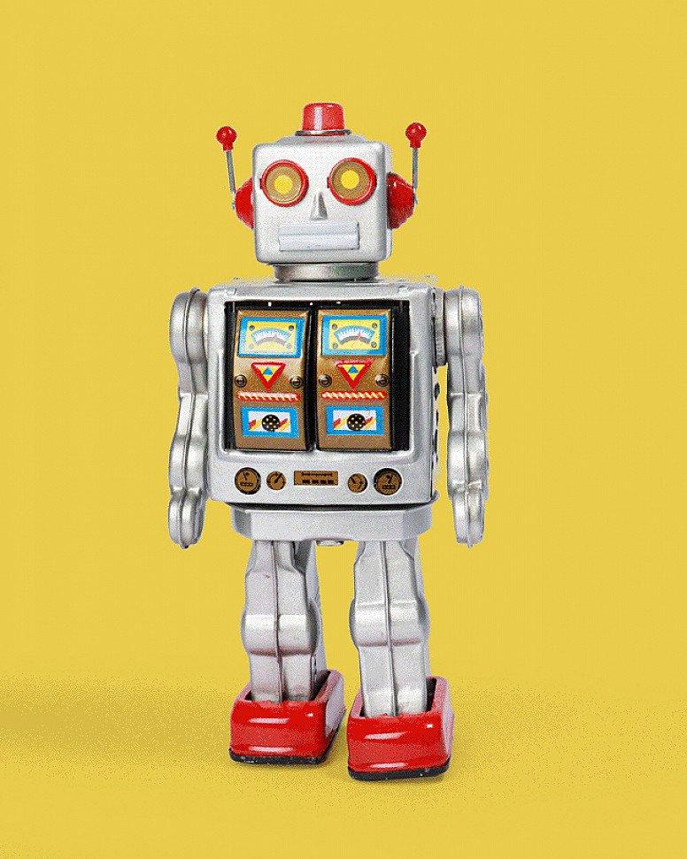 Big Flashing Silver Robot Tin Toy - £45.00!