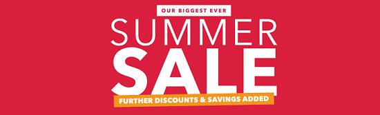SUMMER CLEARANCE SALE ENDS SOON - SAVE UP TO 70% OFF RRP.