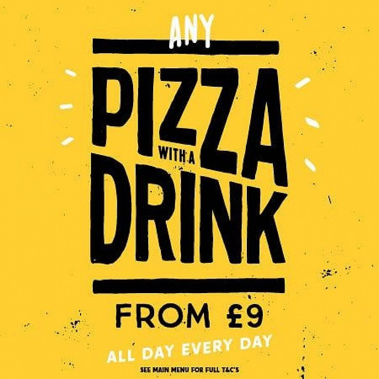 Pizza and a Drink