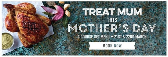 SAY 'THANKS' WITH HER FAVOURITES THIS MOTHER'S DAY AT HARVESTER