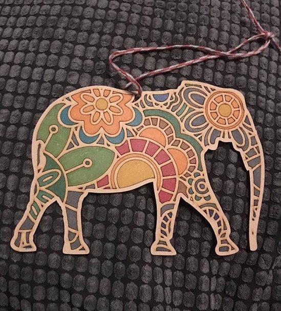 MDF MANDALA ELEPHANT