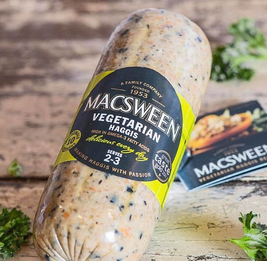 Macsween Vegan Haggis - Small: 99p Large £1.99, whilst stocks last!