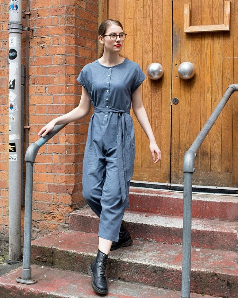 SALE - Messina Jumpsuit, Bleu Gris!