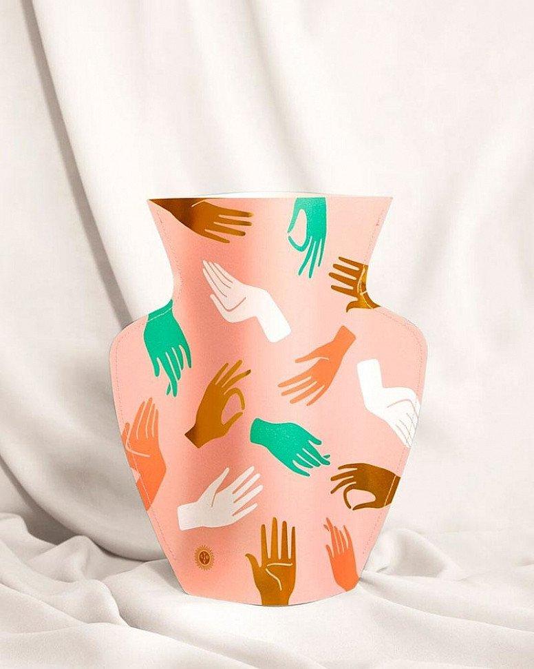 SALE - Octaevo Paper Vase, Hamsa!