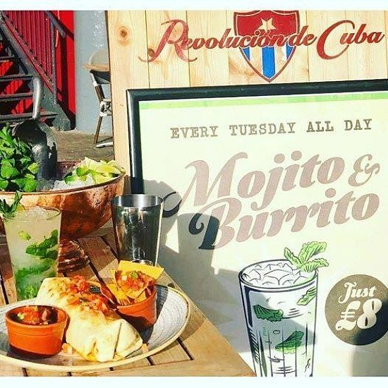 Don't forget amigos - our Mojito & Burrito Tuesday's are still on!!