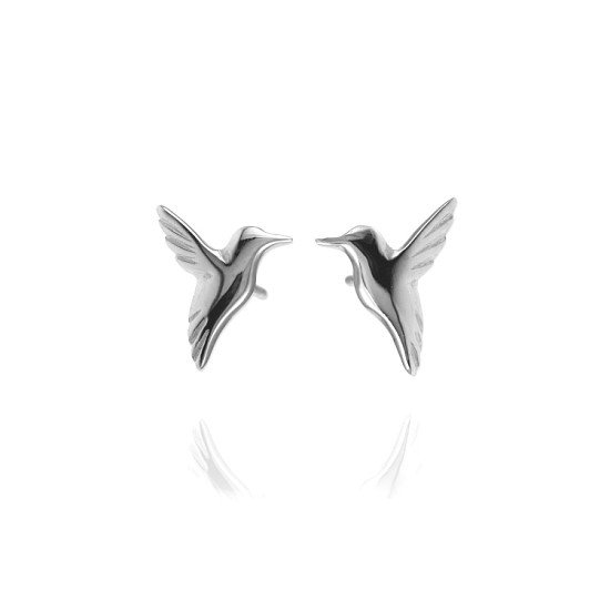 Win a pair of sterling silver hummingbird earrings by Jana Reinhardt - worth £69