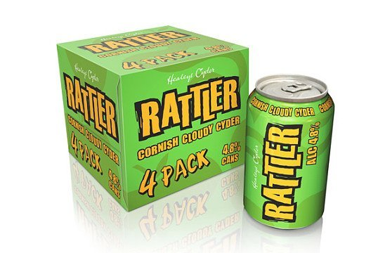 CORNISH RATTLER CYDER CANS: £6.25 Pack - 4x330ml 4.8% abv