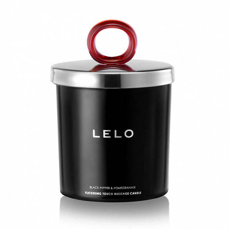 Lelo Black Pepper And Pomegranate Flickering Touch Massage Candle