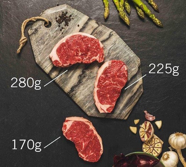 ORGANIC BEEF SIRLOIN STEAK - We favour traditional and rare breeds in South Devon & Gloucester