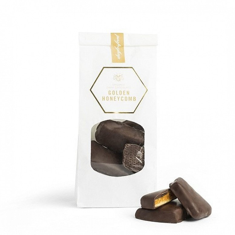 ORGANIC DARK CHOCOLATE GOLDEN HONEYCOMB 250G - £15.00!