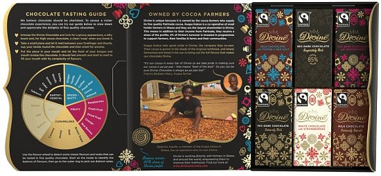 Luxurious Fairtrade Divine Chocolate Tasting Set - £6.00!