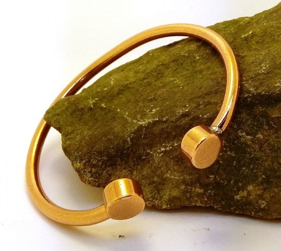 M95: Copper Cylindrical Torque Bracelet - £9.50!