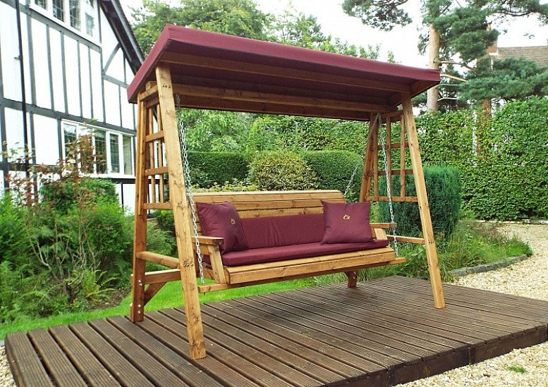 Garden Swing 3 Seater - UK Made and delivered fully assembled