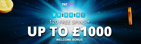 Love Slots? Get 120 FREE Spins & up to £100 welcome bonus