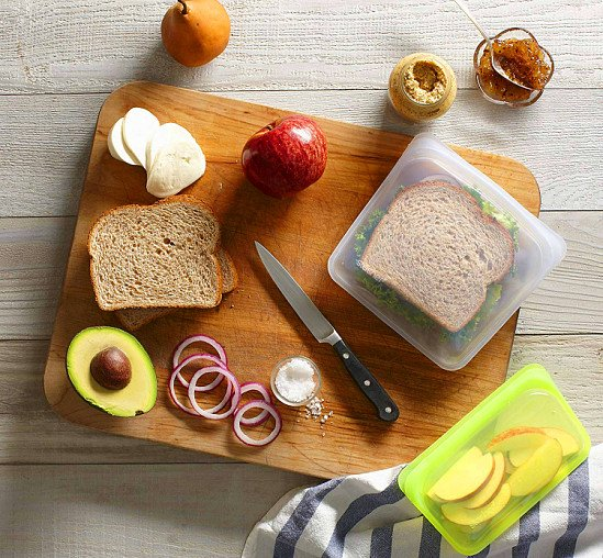 Stasher Reusable Food Storage Bag Clear - Sandwich Bag Size 450ml: £12.99!