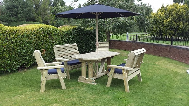 Ergonomical Table With 6 Seats Patio Set