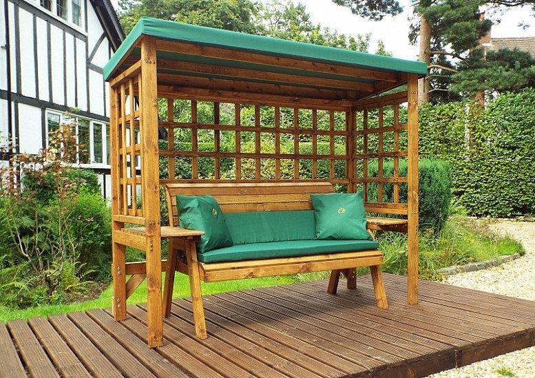 Garden Arbour – Green 3 Seater