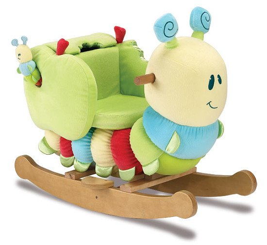Caterpillar Rocker with Soft Toy Rattle