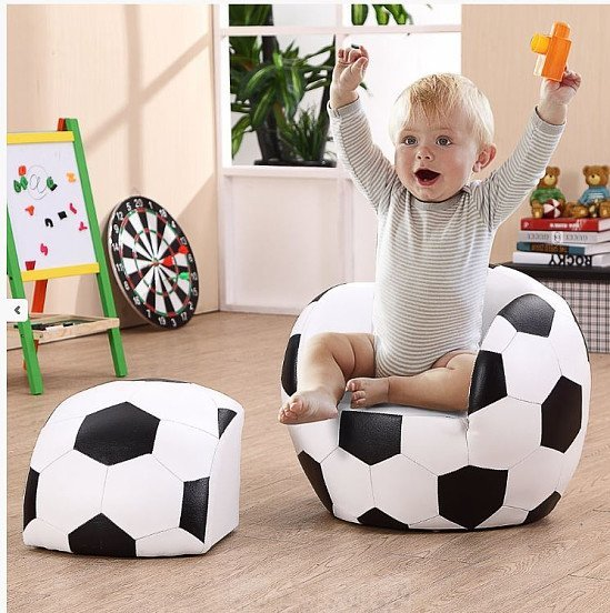 Football Chair and Footstool