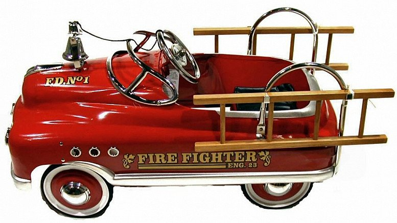 Comet red fire fighter pedal car