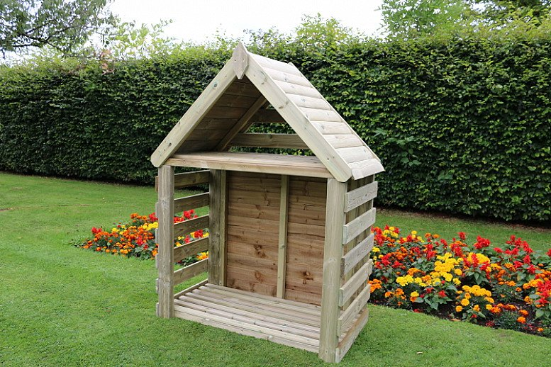 Apex Garden Wooden Log Store