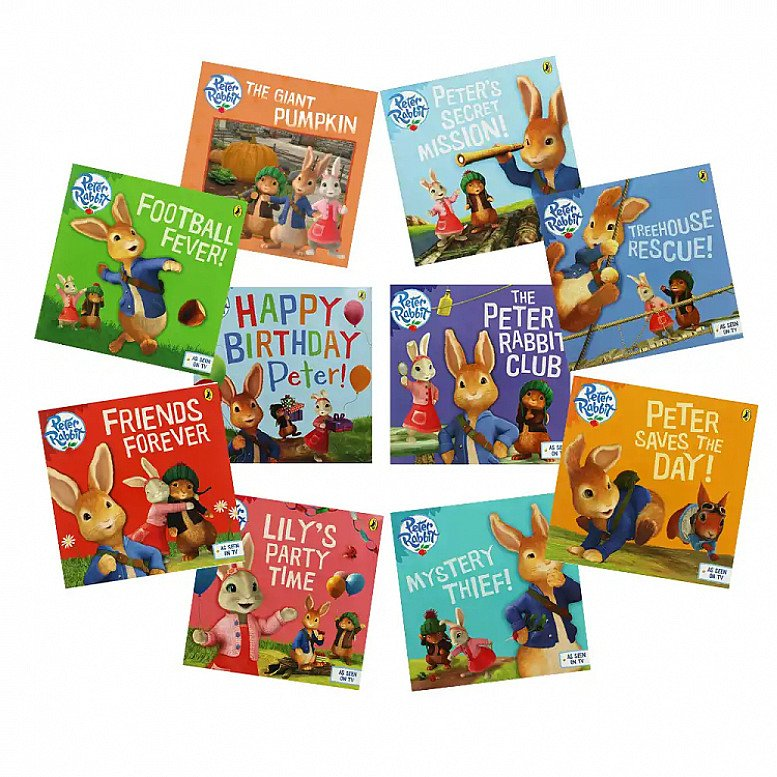 SAVE- The Adventures of Peter Rabbit - 10 Kids Picture Books Bundle