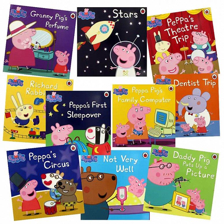 SAVE- Peppa Pig Adventures - 10 Kids Picture Books Bundle