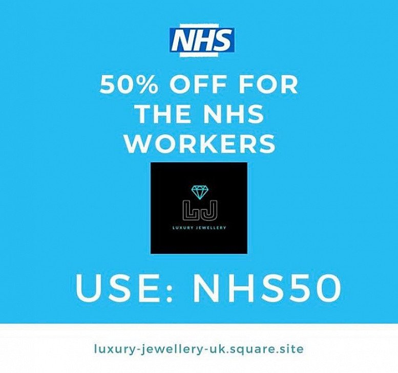50% OFF for NHS Workers & Staff | Luxury Jewellery Mansfield, UK