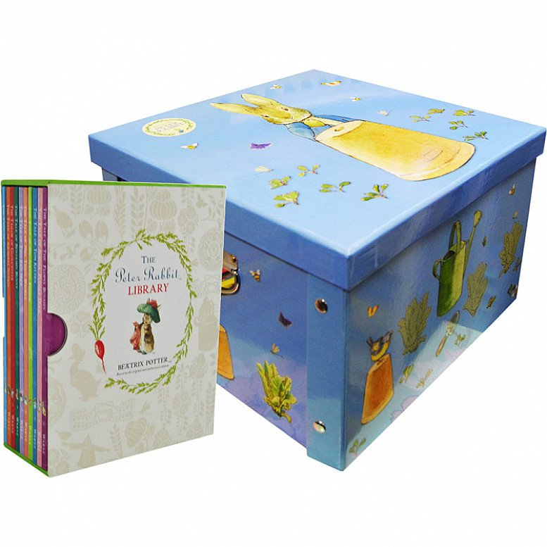 SAVE- Peter Rabbit Library and Collapsible Storage Box Bundle