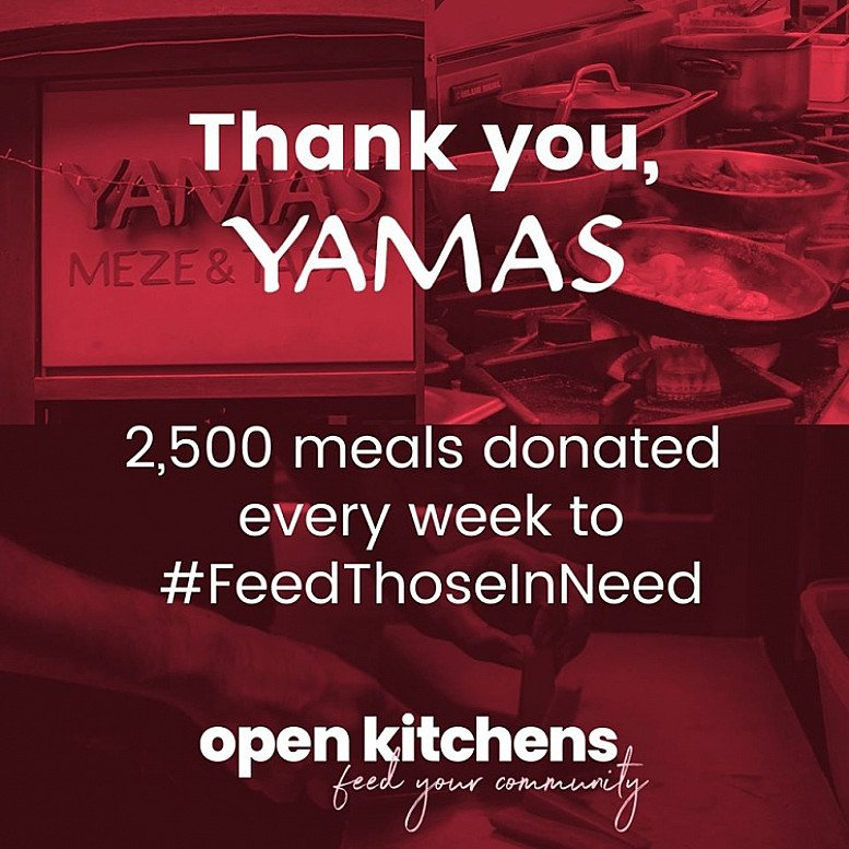 We are incredibly proud to have joined OpenKitchens, providing free meals to the vulnerable