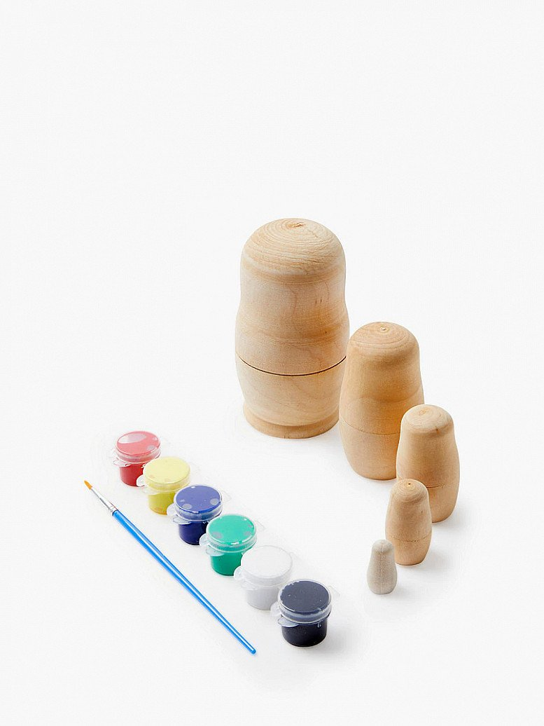 PERFECT FOR KIDS- Paint Your Own Russian Doll Set