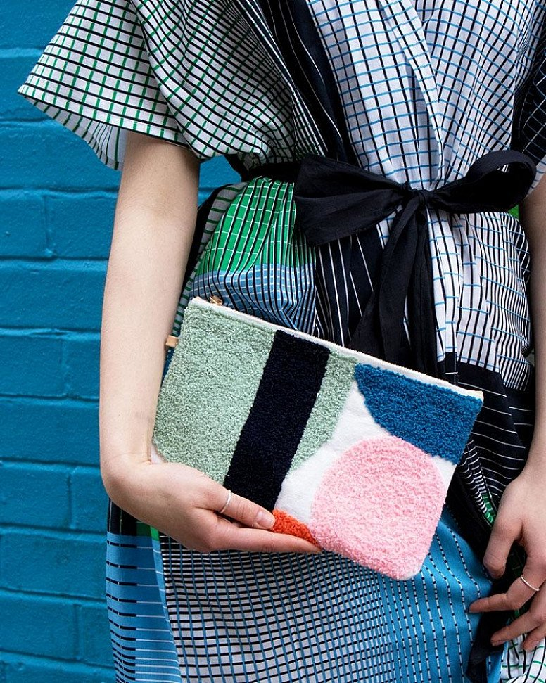 SAVE- Delice Embroidered Pouch