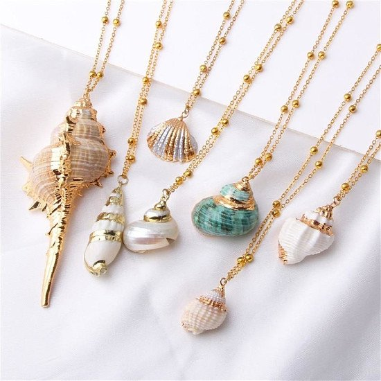 Natural Sea Shell Necklaces, Bargain Prices