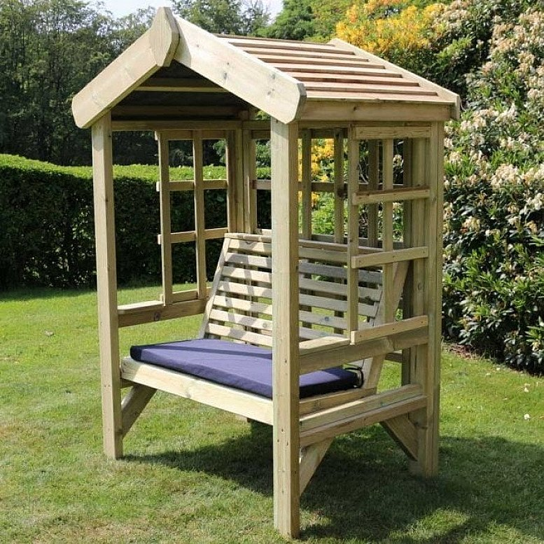 Cottage Arbour – Trellis Back And Sides – 2 Seats