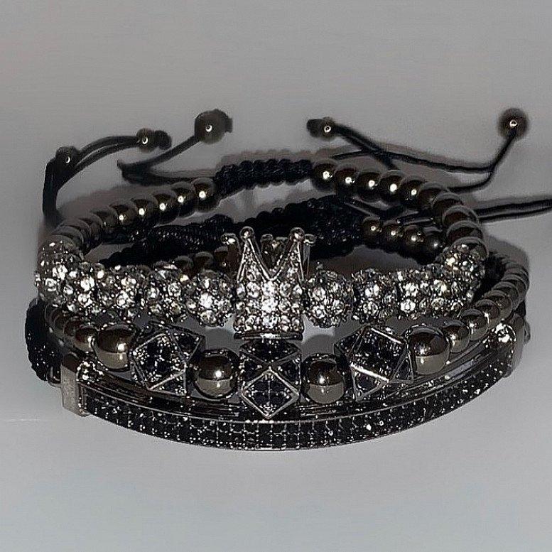 Luxury Black Bracelets Set | Luxury Jewellery | Mansfield UK