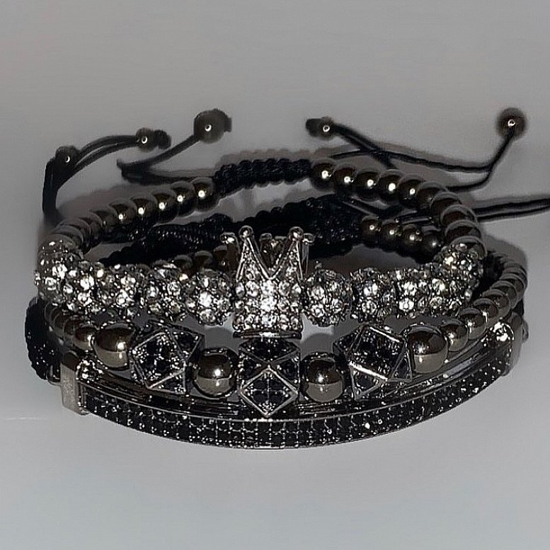 Luxury Black Bracelets Set