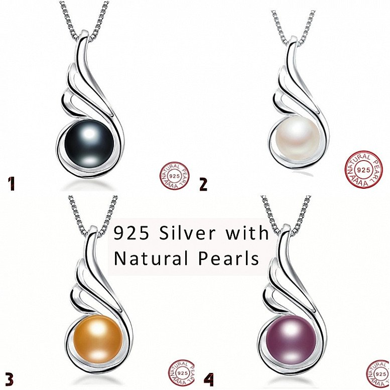 Beautiful natural pearl necklace and pendant 80% off