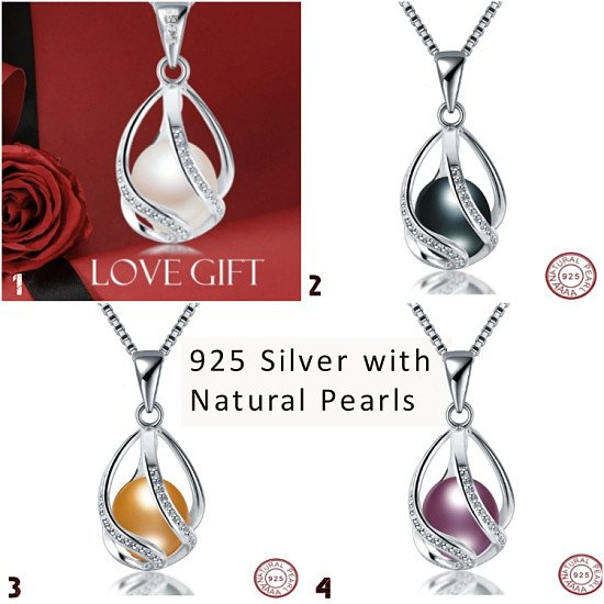 Beautiful natural pearl necklace and pendant