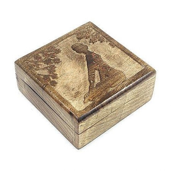 Meditation Mango Wood Box Regular - price £15.00!
