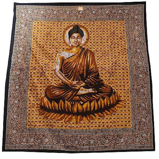 Buddha Double Bedspread Regular - price £22.00!